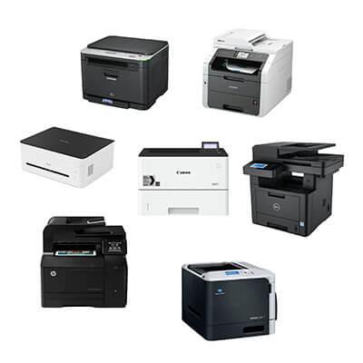Die Abbildung zeigt Laserdrucker