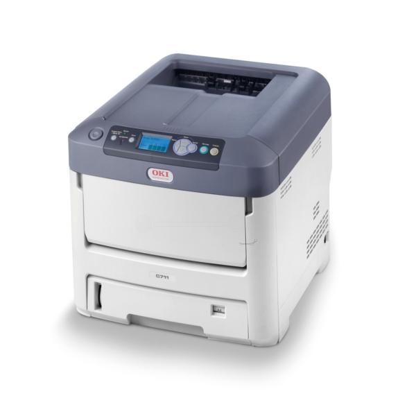 Die Abbildung zeigt einen OKI C 711 WT Drucker