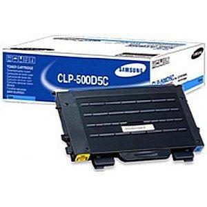 Original Samsung CLP-550 G (CLP-500D5C/ELS) Toner Cyan mit Karton