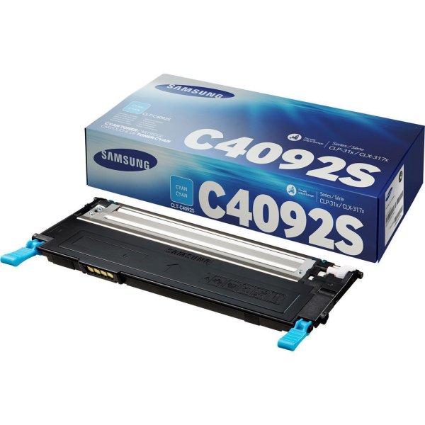 Original Samsung CLX-3170 N (CLT-C4092S/ELS / C4092S) Toner Cyan mit Karton