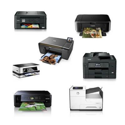 Die Abbildung zeigt Tintenstrahldrucker