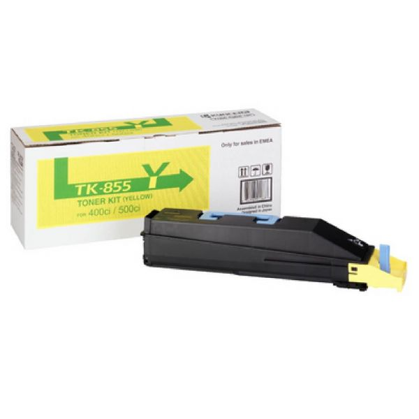 Original Kyocera TASKalfa 500 ci (1T02H7AEU0 / TK-855Y) Toner Gelb mit Karton