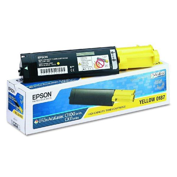 Original Epson C13S050187 / 0187 Toner Gelb