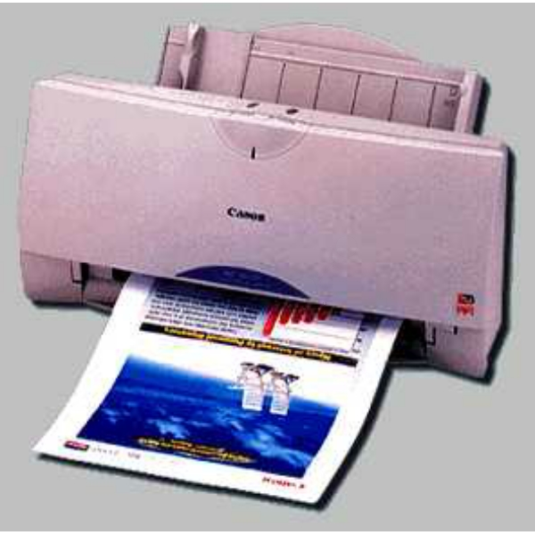 Die Abbildung zeigt einen Canon BJC 255 Drucker