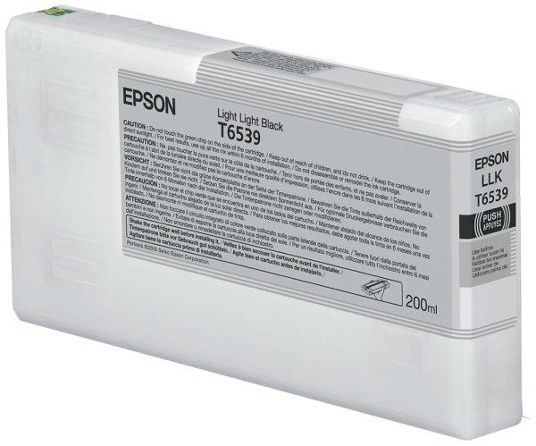Original Epson Stylus Pro 4900 Spectro_M 1 (C13T653900 / T6539) Druckerpatrone Schwarz Hell Hell mit Karton