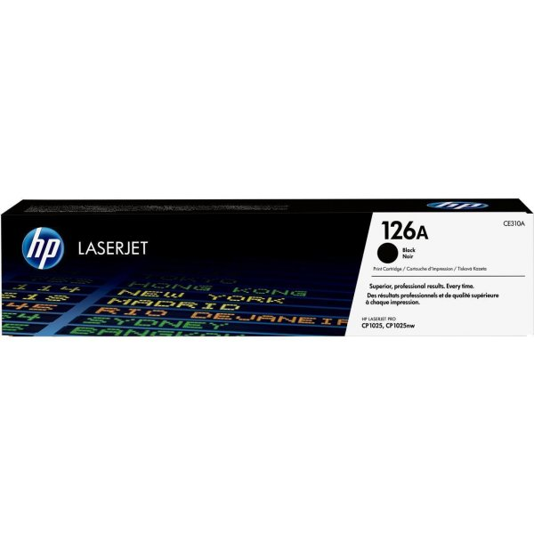 Original HP LaserJet CP 1025 Color (CE310A / 126A) Toner Schwarz mit Karton