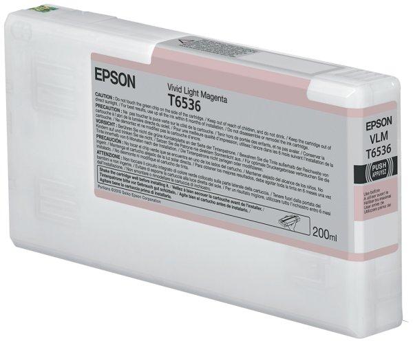Original Epson Stylus Pro 4900 SpectroProofer UV (C13T653600 / T6536) Druckerpatrone Light Magenta mit Karton