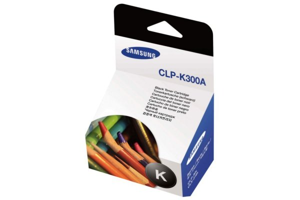 Original Samsung CLX-3160 FN (CLP-K300A/ELS) Toner Schwarz mit Karton