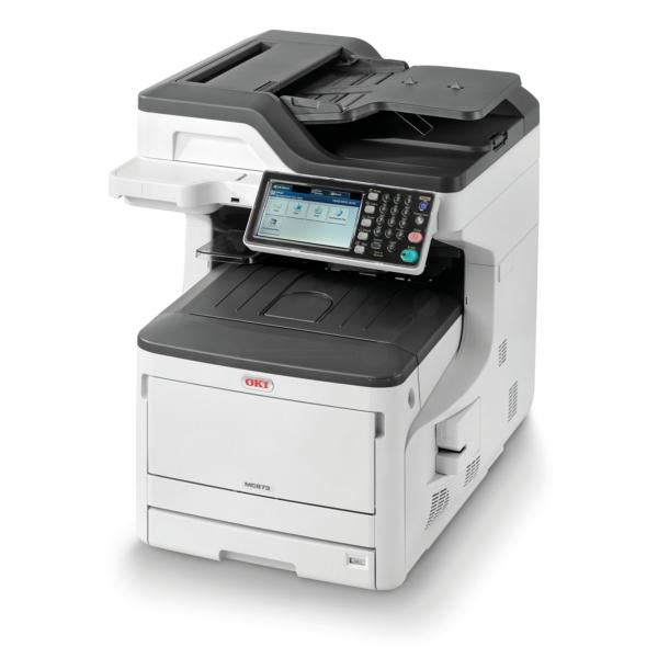 Die Abbildung zeigt einen OKI MC 873 Series Drucker