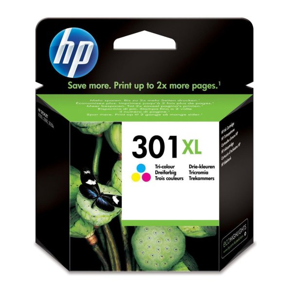 Original HP Envy 4505 e-All-in-One (CH564EE / 301XL) Druckerpatrone Color (Cyan,Magenta,Gelb) mit Karton