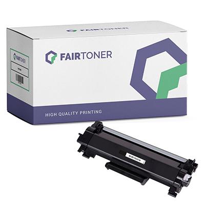 Die Abbildung zeigt eine kompatible Tonerkartusche von FairToner für brillante Farben und ein klares Druckbild