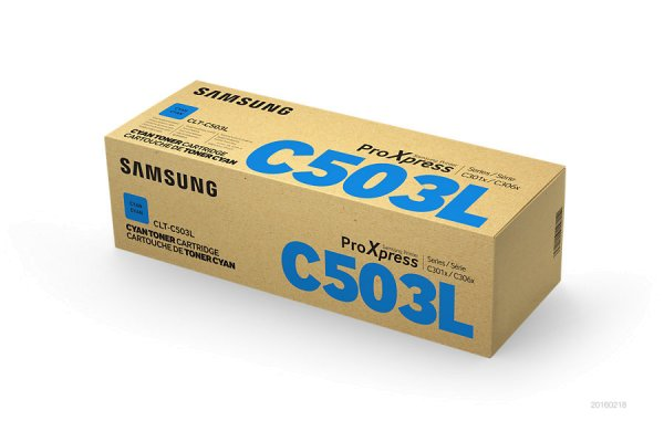Original Samsung ProXpress C 3000 Series (CLT-C503L/ELS / C503L) Toner Cyan mit Karton