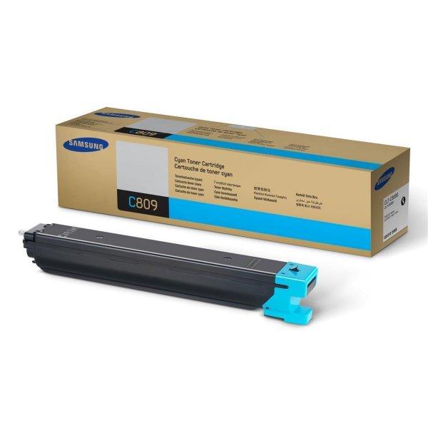 Original Samsung CLX-9201 N (CLT-C809S/ELS) Toner Cyan mit Karton