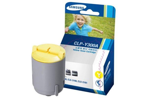 Original Samsung CLX-2160 N (CLP-Y300A/ELS) Toner Gelb mit Karton