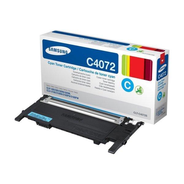 Original Samsung CLP-320 N (CLT-C4072S/ELS / C4072S) Toner Cyan mit Karton