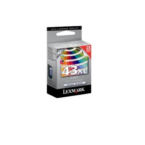 Original Lexmark X 4900 Series (18YX143E / 43XL) Druckerpatrone Color mit Karton