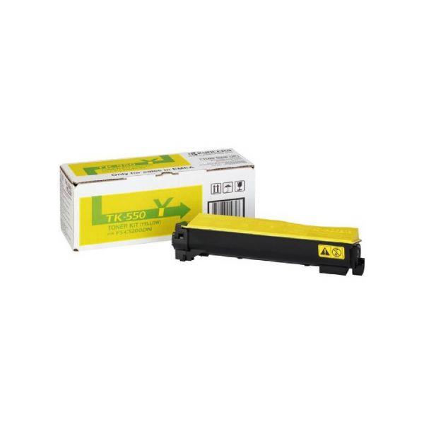 Original Kyocera FS-C 5200 DN (1T02HMAEU0 / TK-550Y) Toner Gelb mit Karton