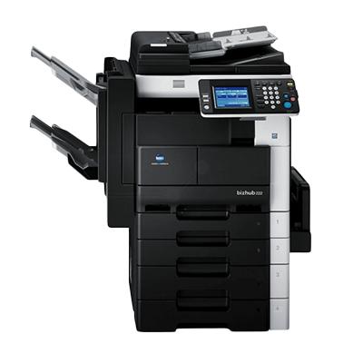 Die Abbildung zeigt einen Konica Minolta Laserdrucker