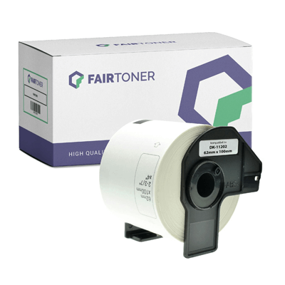 Die Abbbildung zeigt Etiketten als Verbrauchsmaterial für Thermodirektdrucker