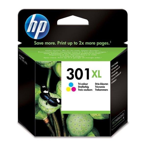 Original HP DeskJet 3057 a (CH564EE / 301XL) Druckerpatrone Color (Cyan,Magenta,Gelb) mit Karton