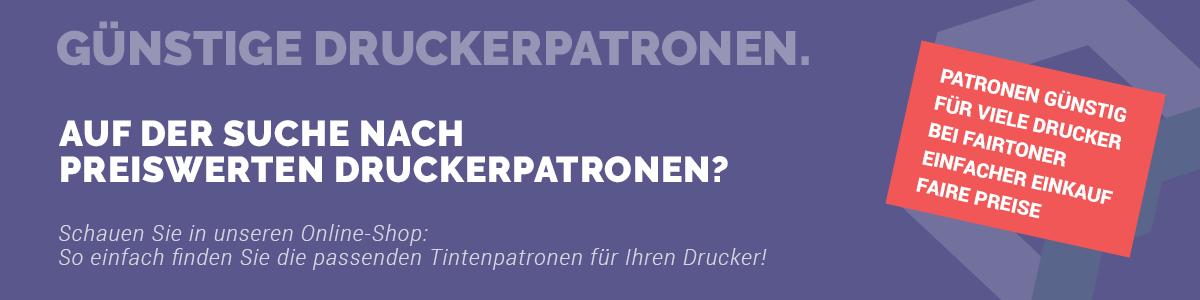 Bannergrafik: Druckerpatronen günstig