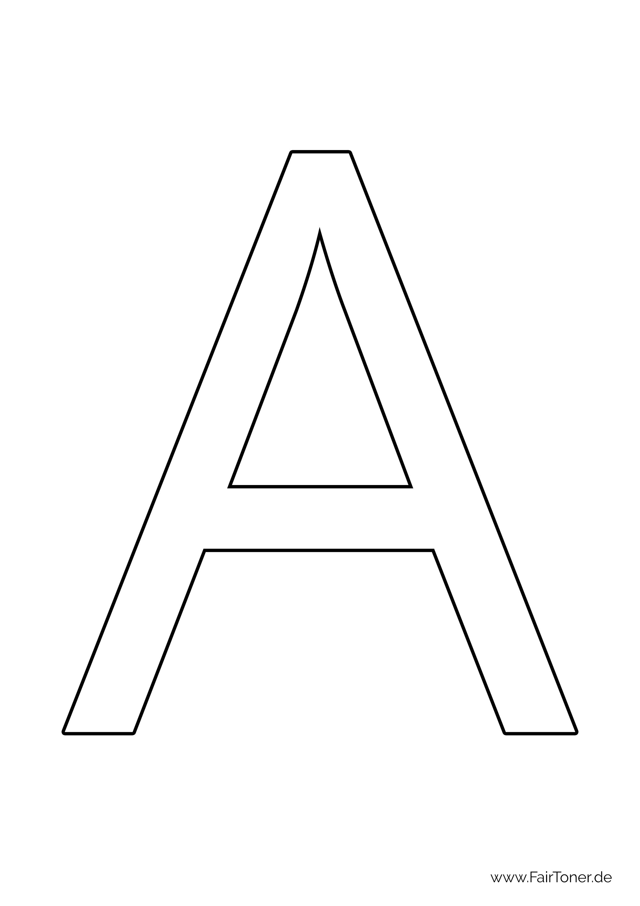 Buchstaben zum Ausmalen kostenlose Malvorlagen