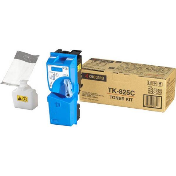 Original Kyocera KM-C 3232 e (1T02FZCEU0 / TK-825C) Toner Cyan mit Karton