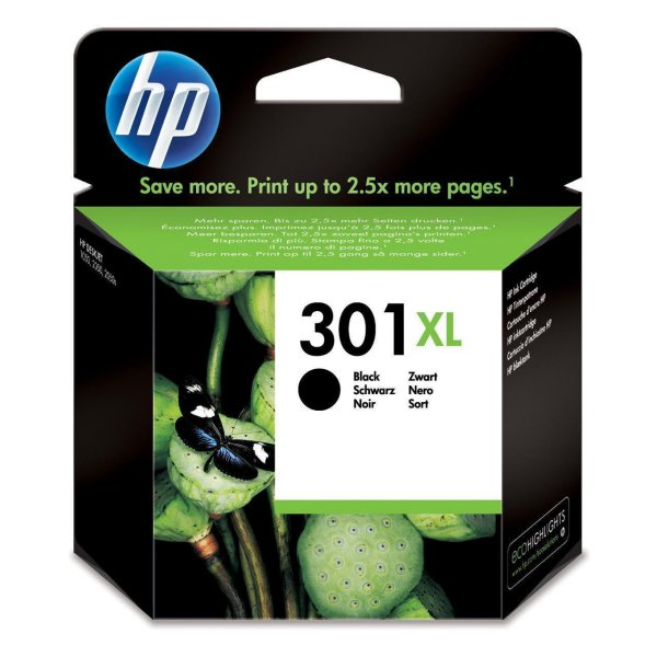 Original HP OfficeJet 4632 (CH563EE / 301XL) Druckerpatrone Schwarz mit Karton