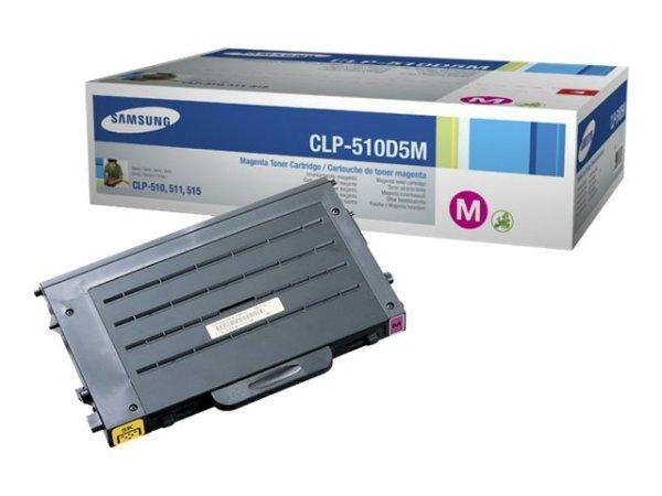 Original Samsung CLP-515 N (CLP-510D5M/ELS) Toner Magenta mit Karton