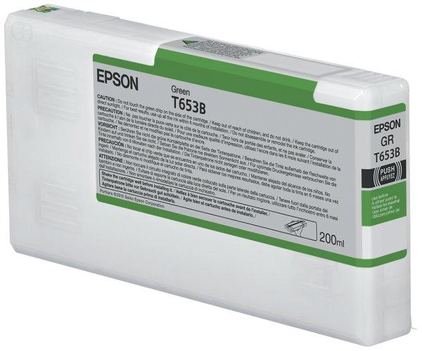 Original Epson Stylus Pro 4900 SpectroProofer Designer Edition (C13T653B00 / T653B) Druckerpatrone Grün mit Karton