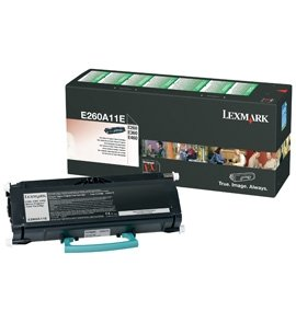 Original Lexmark Optra E 360 Series (E260A11E) Toner Schwarz mit Karton