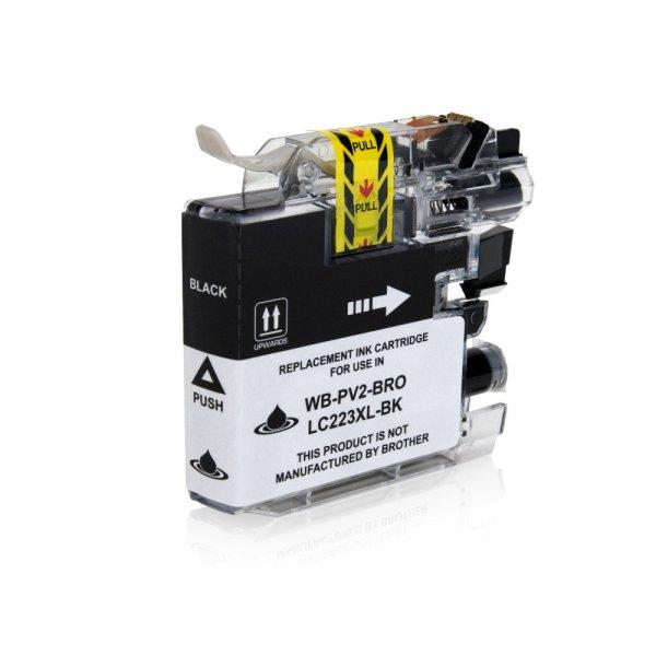 Die Abbildung zeigt eine kompatible Tintenpatrone in der Druckfarbe Schwarz