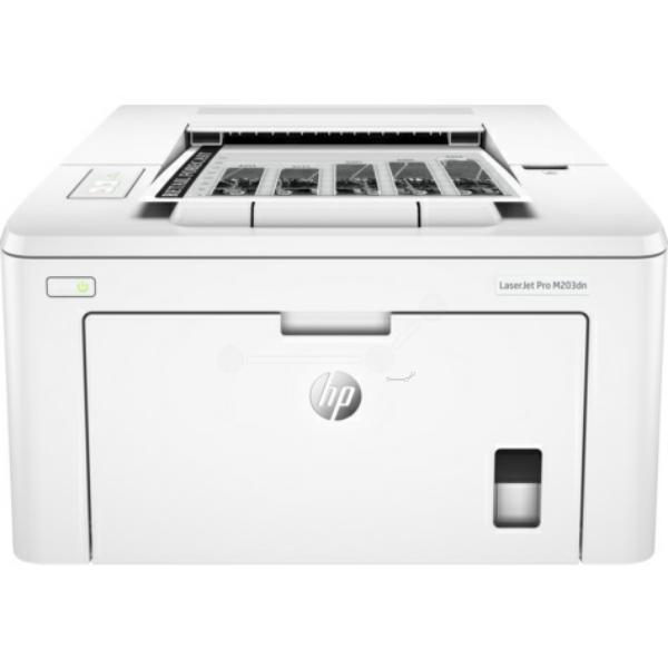 Die Abbildung zeigt einen HP LaserJet Pro M 203 dn Drucker
