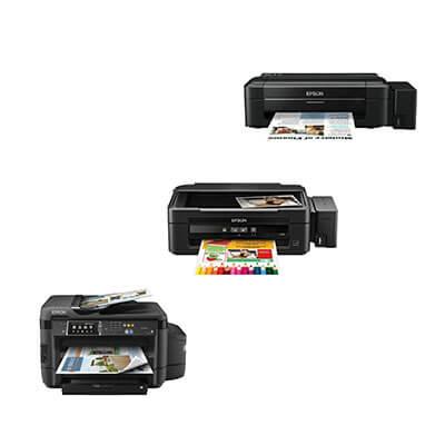 Die Abbildung zeigt Tintentankdrucker