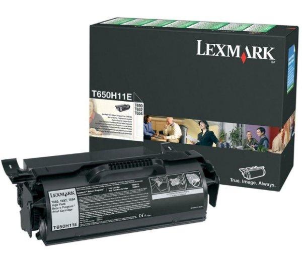Original Lexmark Optra T 654 N (T650H11E) Toner Schwarz mit Karton