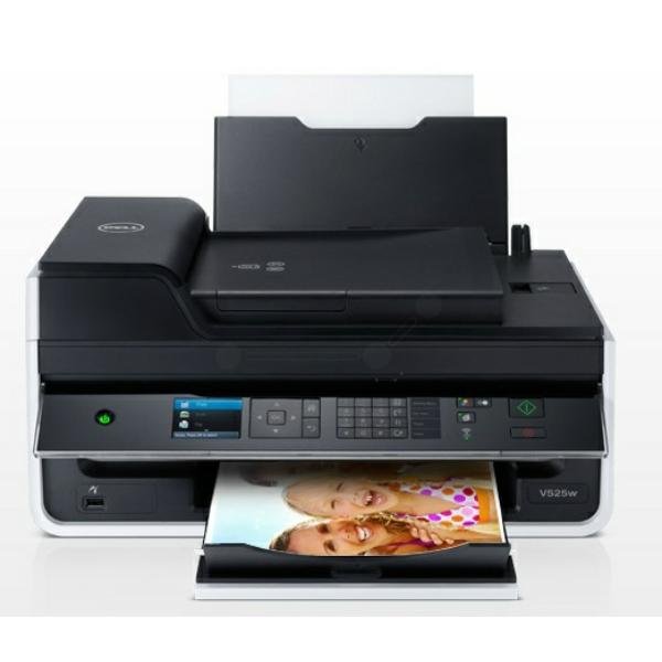Die Abbildung zeigt einen Dell V 525 w Drucker