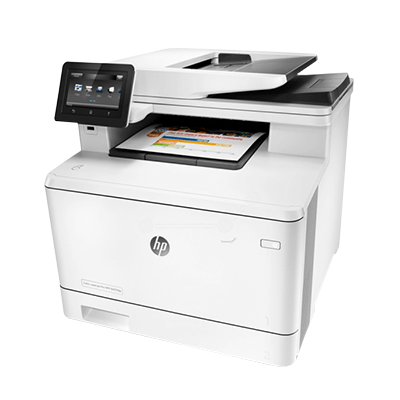 Die Abbildung zeigt einen HP Drucker